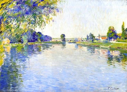 View of the Seine in the Direction of the Pont De Bezons 1892
