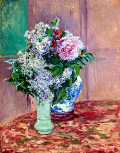 Lilas Et Pivoines Dans Deux Vases 1883