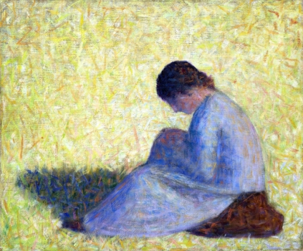 Peasant Woman Seated In The Grass (Paysanne Assise Dans L'herbe)