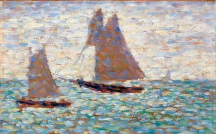 Two Sailboats At Grandcamp
