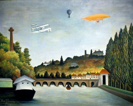 View of the Sevres Bridge and the Clamart Hills, Saint Cloud and Bellevue