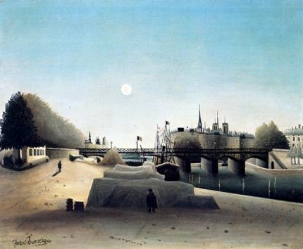 View of Ile Saint-Louis, Near Port Saint-Nicolas, Evening