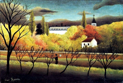 Landscape with Farmer