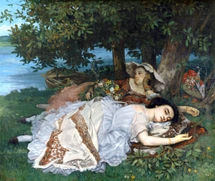Les Demoiselles Des Bords De La Seine 1856