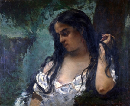 Gypsy in Reflection 1869