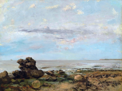 The Beach at Trouville 1865