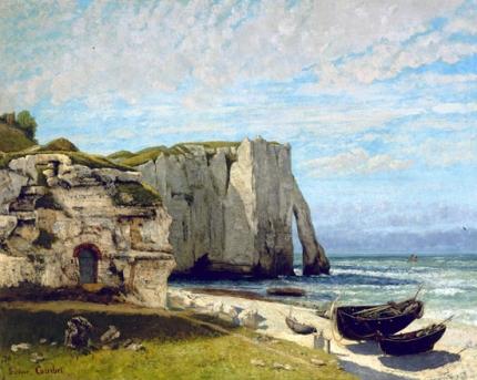 The Etretat Cliffs after the Storm 1870