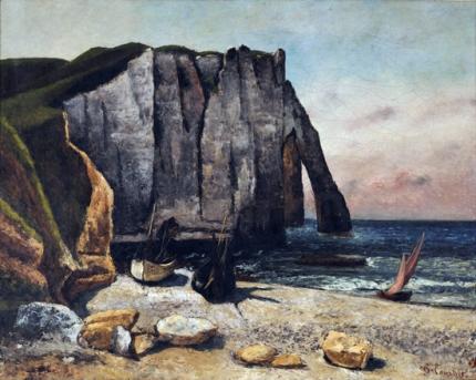 The Cliffs at Etretat 1869