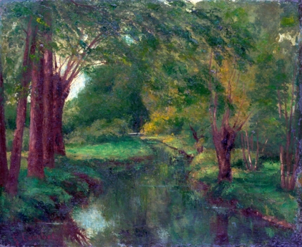 A Brook in a Clearing 1862