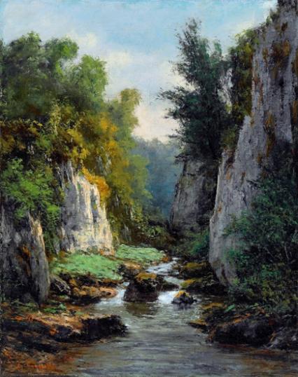 Le Ruisseau Entre Les Rochers