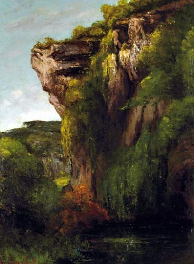 Bords De La Loue avec Rochers 1864