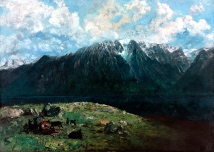 Panoramic View of the alps 1877