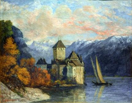 Le Château De Chillon 1874