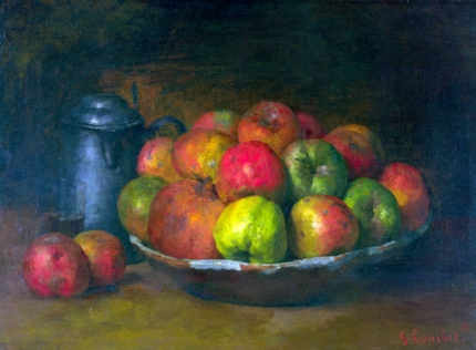 Still Life with apples and a Pomegranate 1871