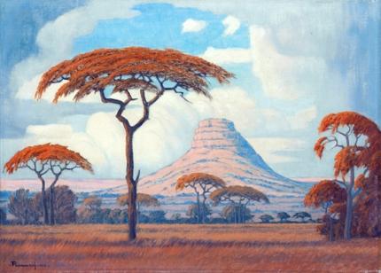 Acacias with Kranskop Beyond, Limpopo Province, 1942