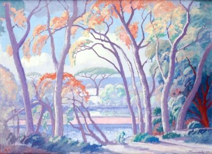 Msasa Trees, Olifants River, 1944