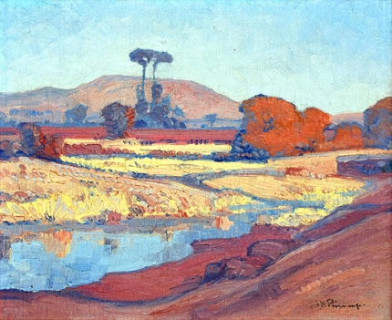 Landscape with Riverbed
