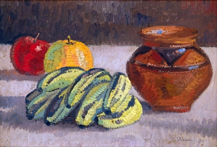 Still Life with Apples and Bananas