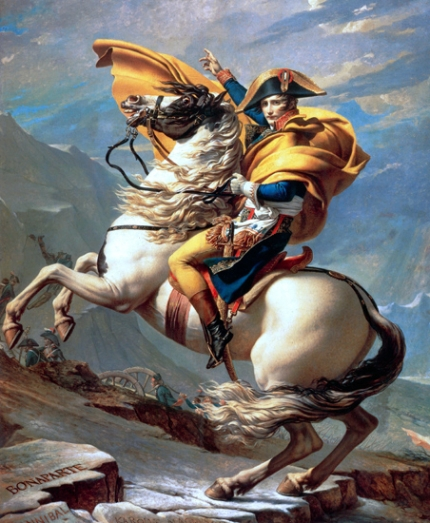 Napoleon crossing the Alps (Malmaison version) 1800