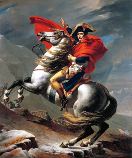 Napoleon Crossing the Alps (Belvedere version) 1801