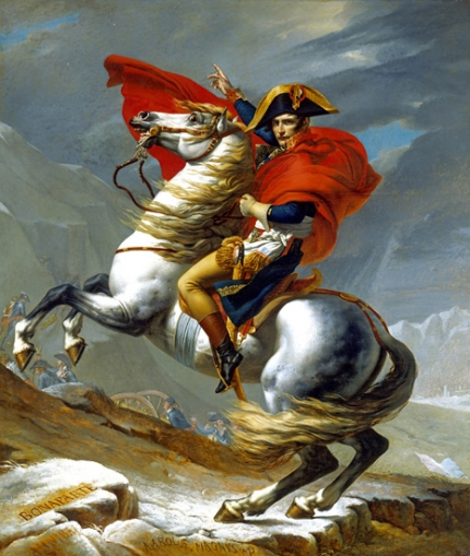 Napoleon Crossing the Alps (First Versailles version) 1802