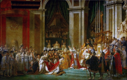 The Consecration of the Emperor Napoleon and the Coronation of Empress Joséphine on December 2, 1804