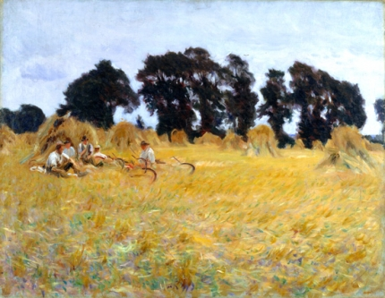 Reapers Resting In a Wheat Field 1885