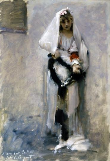 A Parisian Beggar Girl 1880