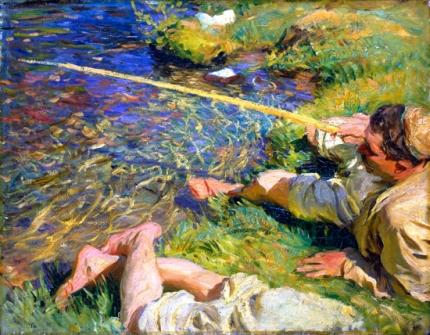 Val D'aosta-A Man Fishing 1907