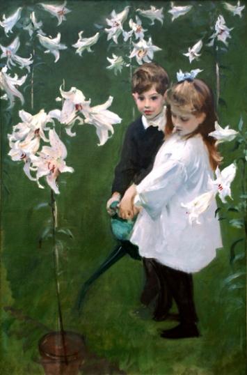 Garden Study of the Vickers Children, 1884
