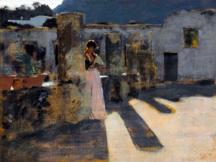 Capri Girl on a Rooftop 1878-2