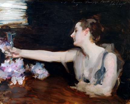 Madame Gautreau Drinking a Toast, 1882-1883