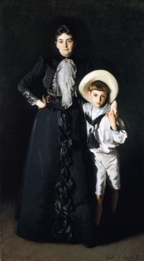 Portrait of Mrs. Edward L. Davis and Her Son, Livingston Davis 1890