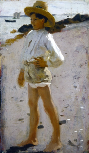 Young Boy on the Beach 1877