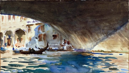 Venice-Under the Rialto Bridge 1909