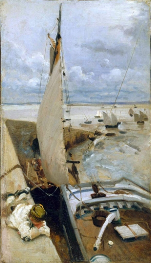 Low Tide at Cancale Harbor 1878