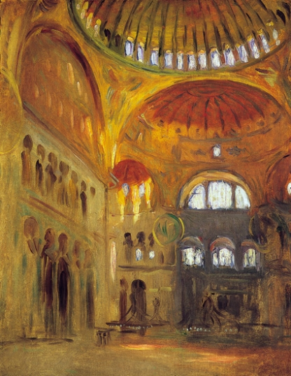 Interior of the Hagia Sophia 1891