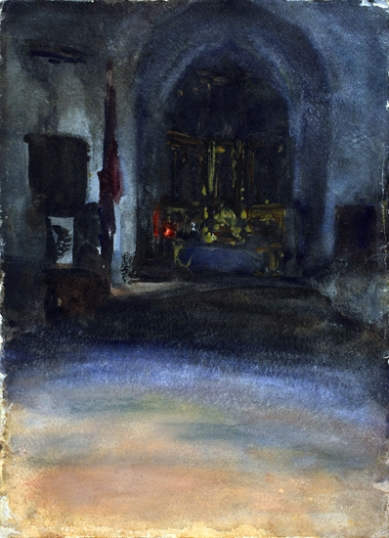 Spanish Church Interior 1880