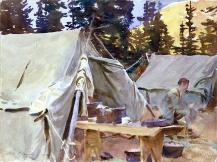 Camp at Lake O'hara 1916