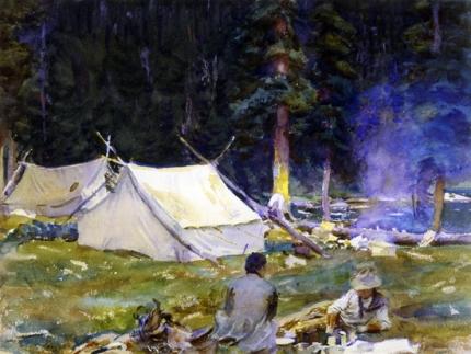 Camping Near Lake O'hara 1916