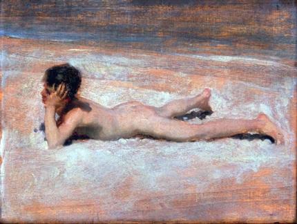 A Nude Boy on a Beach 1878