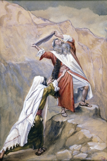 Moses Destroyeth the Tables of the Ten Commandments