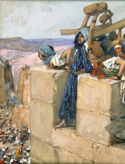 A Woman Breaks the Skull of Abimelech