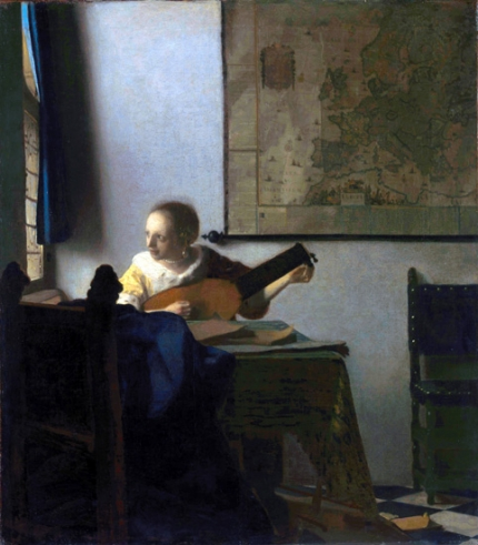 Young Woman with a Lute 1662-63