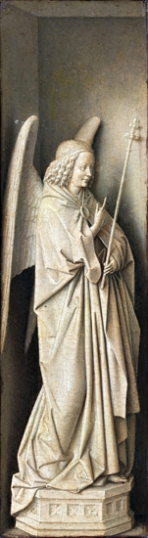 Virgin and Child Closed - Triptych - Left Panel