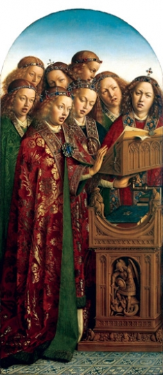 2. The Ghent Altarpiece Singing Angels