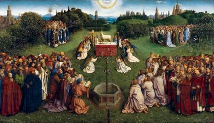 10. The Ghent Altarpiece Adoration of the Holy Lamb