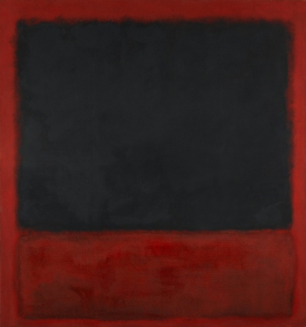 Untitled (Black, Red Over Black, On Red)