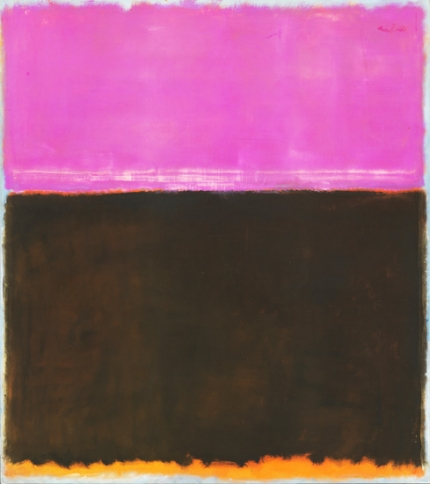 Untitled (Violet, Black, Orange On Gray) 1953