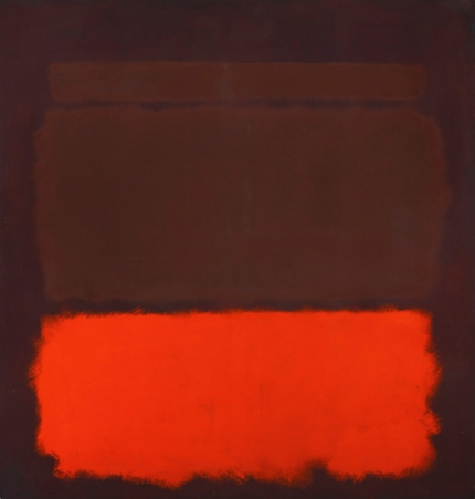 No. 6 Sienna, Orange On Wine, 1962